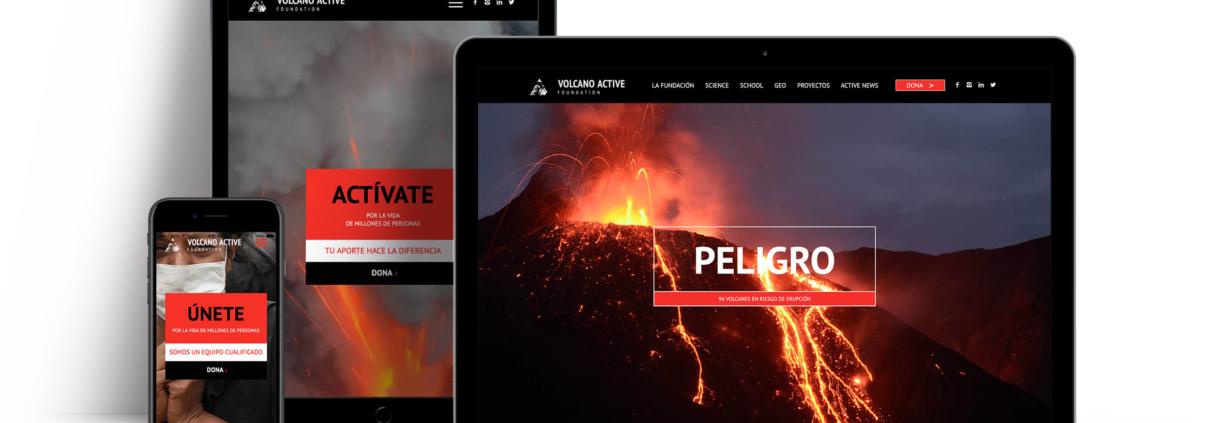 Web design volcano foundation ft. Crescendo