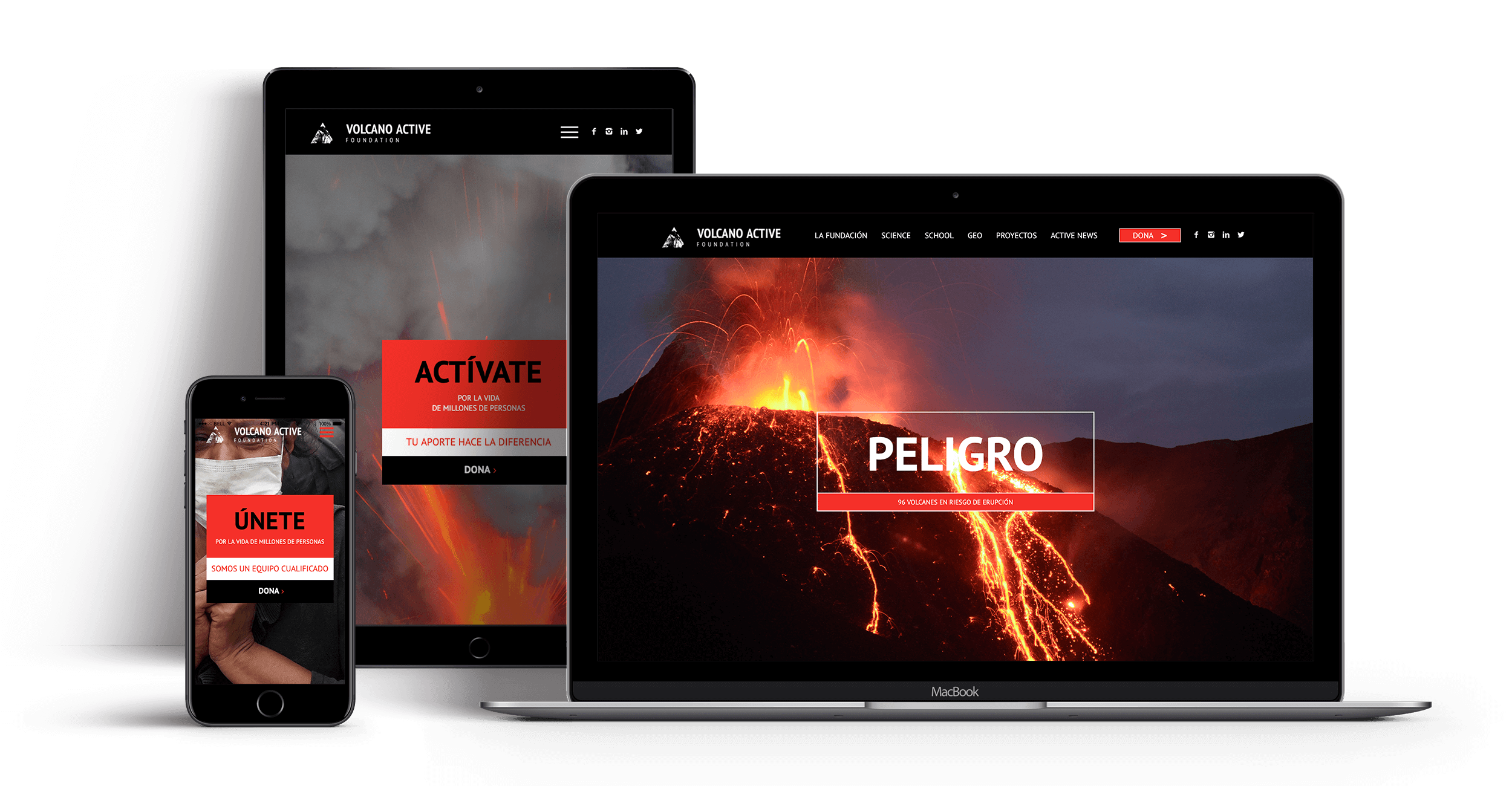 design web volcano foundation ft. Crescendo