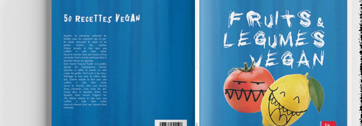 Design de couverture pour livre de recettes véganes